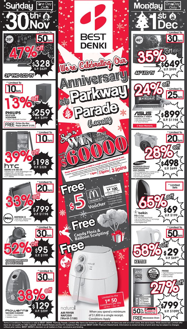Best 25 mcdonalds vouchers ideas on pinterest list of uk parkway parade anniversary ad 30 nov 2014 spin to win great prizes up to 60000 free 5 mcdonalds voucher spend a minimum of 200 in a single xflitez Images
