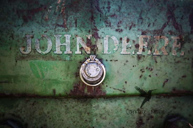 engagement ring photography, john deere engagement