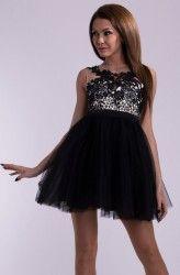 Sukienka princeska, z tyłu wiązanie typu gorset