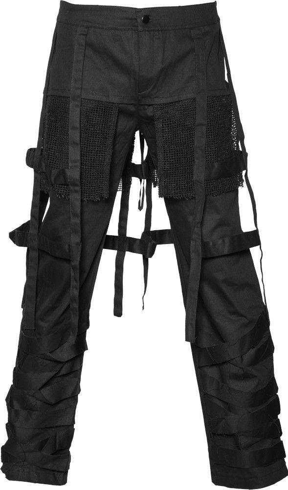 3cb91107603c9 Black straps pants Raven SDL