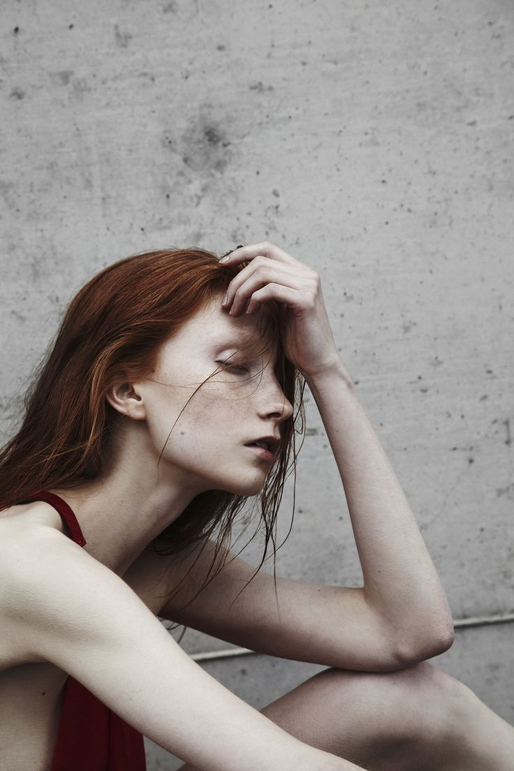 Absence by Mikko Puttonen #redhead #color #pale