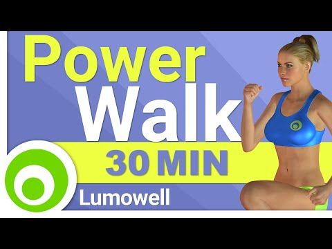 Fat Burning Power Walk Workout at Home - 30 Minute Walking Exercises for Weight Loss - YouTube