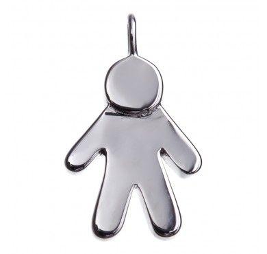 Tzefira Silver Little Boy Pendant Charm - www.tzefira.com