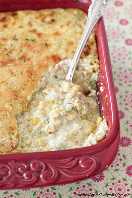 Cheddar and Green Chile Corn Pudding | Recipe | Casseroles, Cinnamon ...