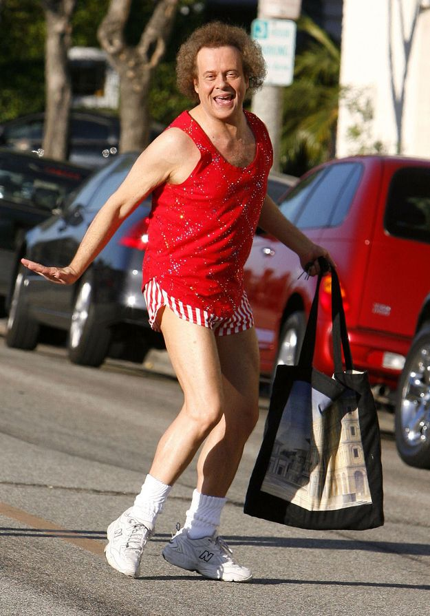 <b>I'm here to remind you that Richard Simmons is still as Richard Simmons-y as he always was.</b> Which means every day is Halloween for him.