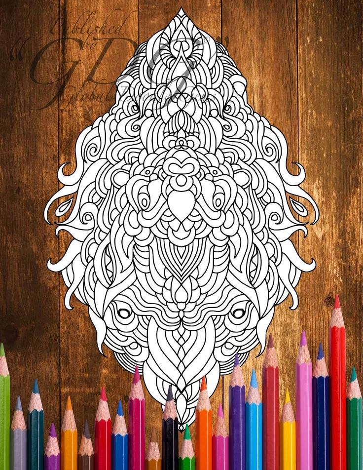 Weirdie 2_29 #Adult Coloring page by AMVWART on Etsy