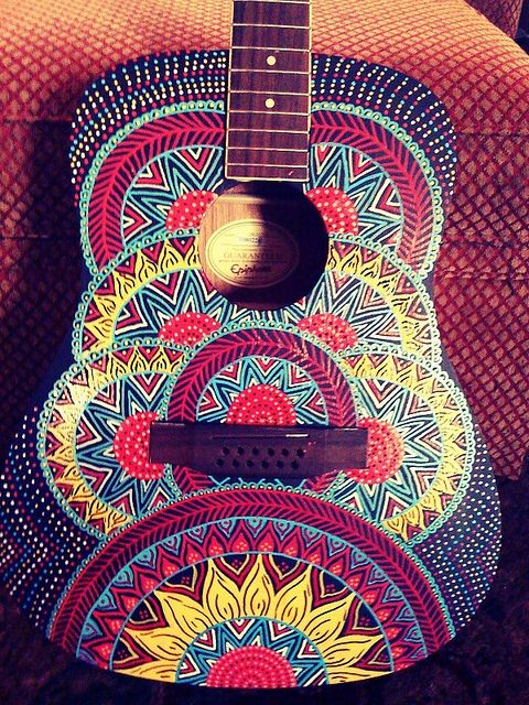 Painted Guitar Mandala by Jamie McAlpin<<<<<<< omg, give this to me now.