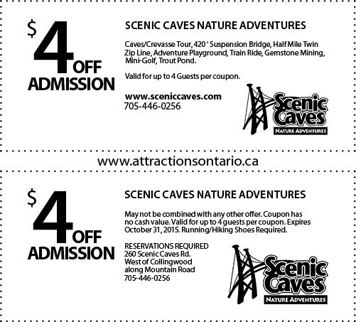 Scenic Caves Coupons