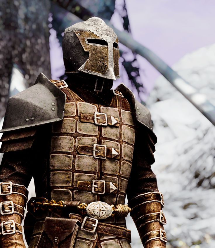 I always loved having a follower in this armor for my vampire lord character.