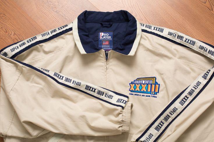 Vintage 90s NFL Super Bowl XXXIII Jacket, 1999 Championship Game Outerwear