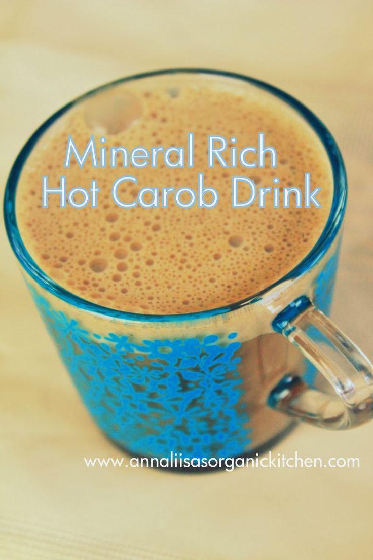 hot carob drink - vegan