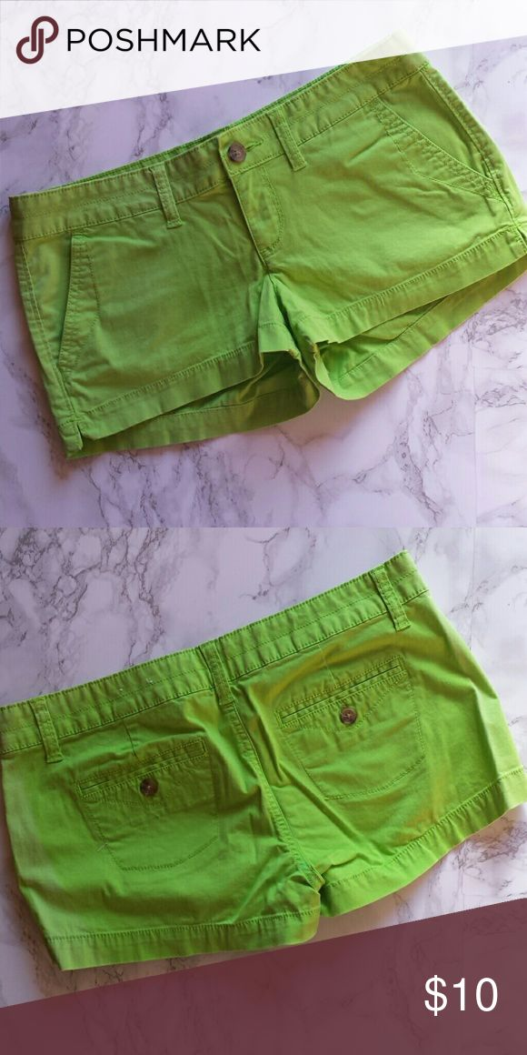 Neon Green Shorts Comfy jean shorts - no rips, stains, holes, etc! Shorts