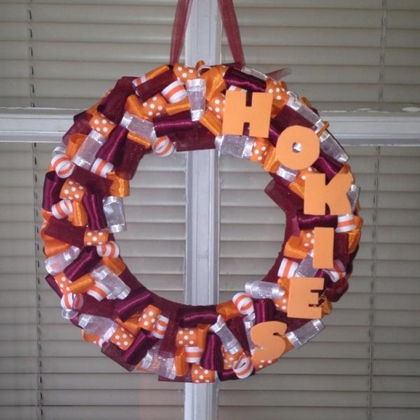 Virginia Tech Hokies Ribbon Wreath