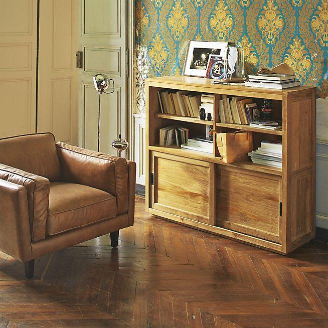 Brooklyn Salon Fauteuil en cuir vachette vintage