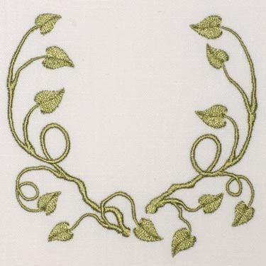 Spring Vine Monogram Blank