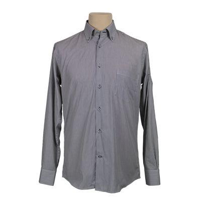 Camicia vestibilita' regolare fantasia rigata - Rigata moro - Invernale. €37,00. #hallofbrands #hob #camicia #shirt
