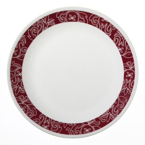 Corelle Livingware 6-Piece Dinner Plate Set, Bandhani. For product info go to:  https://all4hiking.com/products/corelle-livingware-6-piece-dinner-plate-set-bandhani/