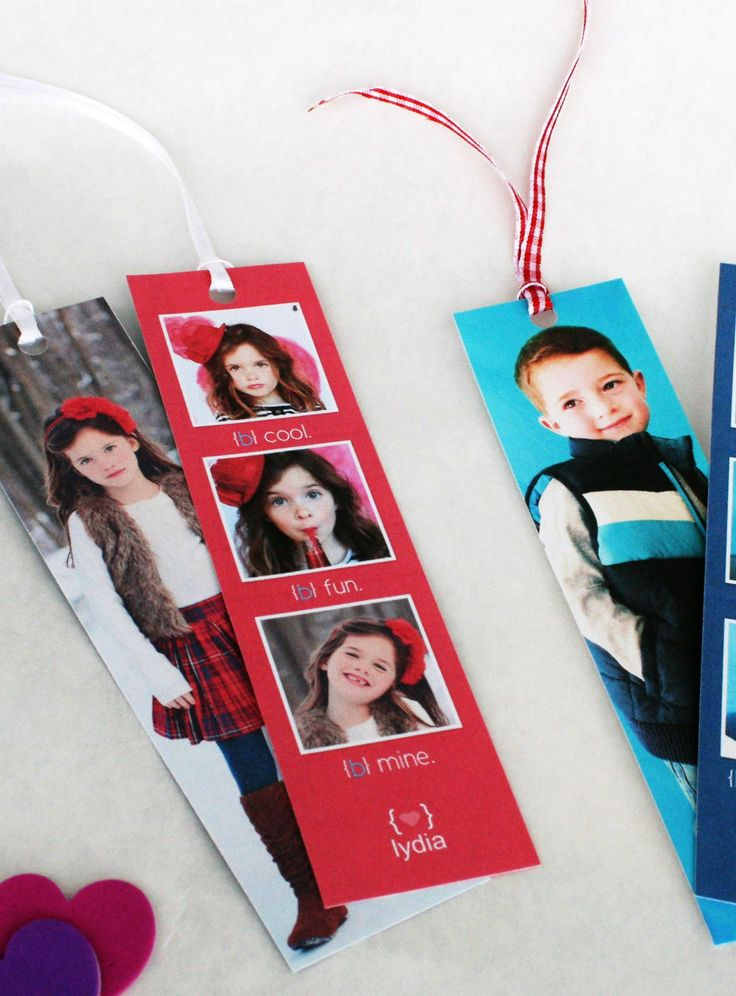DIY Adorable Valentine Bookmarks of Your Kids