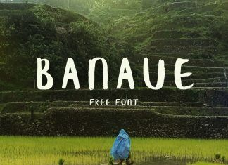 Banaue Brush font -  Banaue Handwritten brush font was designed by Wild Ones Design. Banaue is a handwritten brush font for a homemade look. The font features 104 characters and has all the basic glyphs. The download contains a .otf file. Hand brushed by Ieva Mezule. The name comes from Philippenes, Banaue is a place in the north. Rice terraces that stretch around mountains, and the rice they produce is only for the local use.