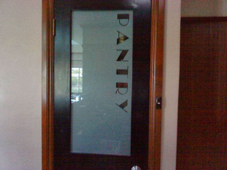 maple frosted glass pantry door for contemporary kitchen | Decorations Accessories Furnitures Half Frosted Glass ...