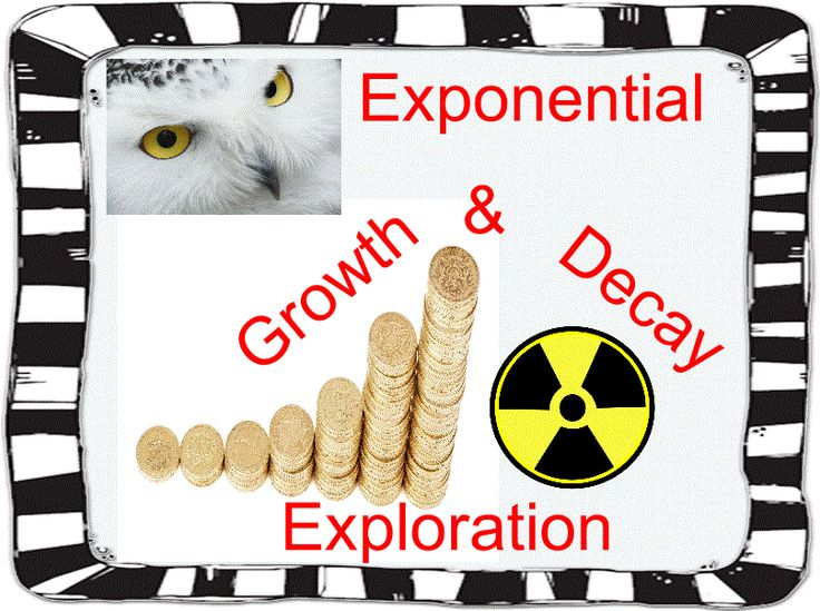 This is an excellent way to introduce students to exponential growth & decay. The students will basically teach themselves how exponential functions work by completing this activity. This period-long exploration is not only effective, but students enjoy the real-world problems. Give this small-group activity a try before teaching students about exploration growth and decay. You'll thank me!  Exploration problems include monetary growth, radioactive decay, as well as population growth…