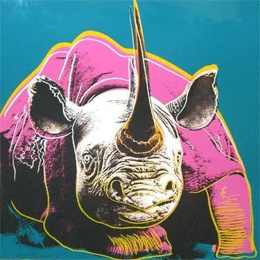 Andy Warhol, Endangered Spieces; Black Rhinoceros, 1983