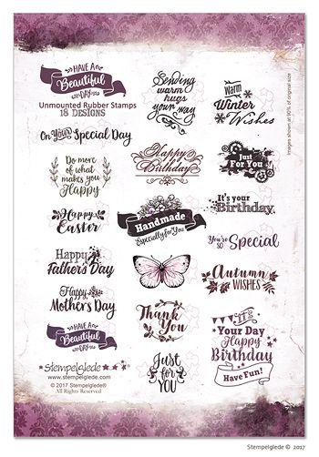 © Stempelglede® Have a Beautiful Day. Unmounted Rubber Stamp Sheet. http://www.stempelglede.com/stemplerbeautifulday_en.html