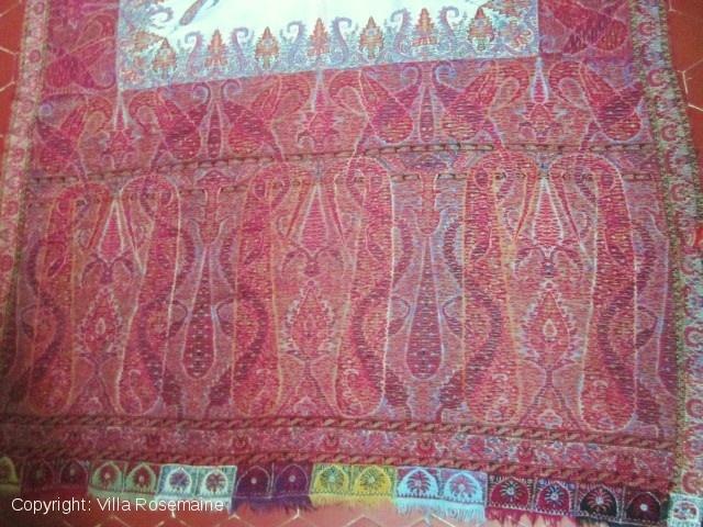 Interesting Indian kani weave shawl from Punjab
