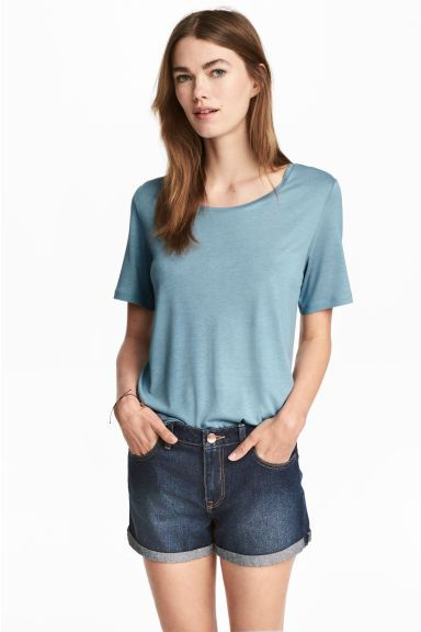 Tricot top - Turkoois - DAMES | H&M NL 1