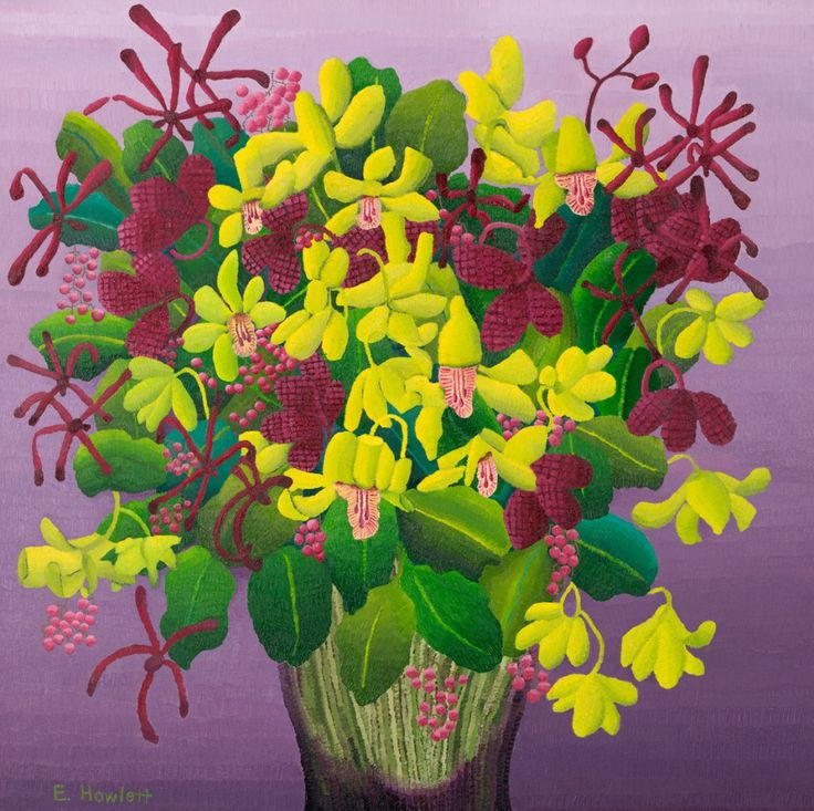 Orchids, oil on canvas, Elisabeth Howlett, 2009