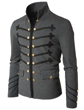 Doublju Mens Jacket with Button Detail http://steampunkclothingsource.com/steampunk-clothing-men/doublju-mens-jacket-with-button-detail