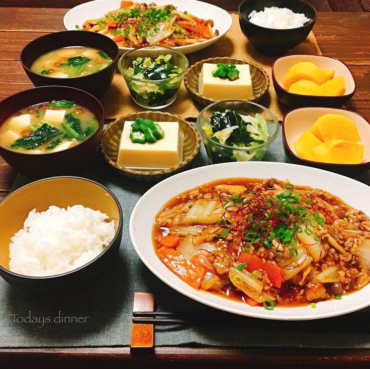 こんばんは★ ✴︎ ✴︎ 2017/10/25 よるごはん ✴︎ 今日は熱々麻婆白菜 豆板醤多めの辛めが好きで、 ラー油もかけちゃいます 詳しいレシピは ゆうき酒場にて。 @yuukitohikari ✴︎ ○キャベツとワカメのナムル 生姜をたっぷりいれて、 鶏がらスープの素と塩、ごま油で味つけしました☺︎ ✴︎ ○卵豆腐 ✴︎ ○味噌汁 ✴︎ ○柿 ✴︎ ✴︎ ✴︎ 乾杯です〜〜! 今日もお疲れ様です☺︎ ✴︎ ✴︎ ✴︎ #よるごはん#夜ごはん#夕ご飯#夕食#夕飯#おうちごはん#おうち晩酌#おうち居酒屋#晩酌#うち飲み#おうち飲み#家飲み#レシピ#簡単レシピ#和食#料理#料理写真#デリスタグラマー#クッキングラム#こんだて#献立#おうちカフェ #cooking#dinner#japanesefood#foodpic#foodphoto#instafood#lin_stagrammer
