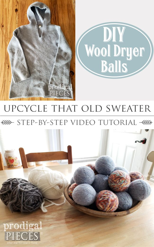 Diy Wool Dryer Balls From Upcycled Sweater Wool Dryer Balls