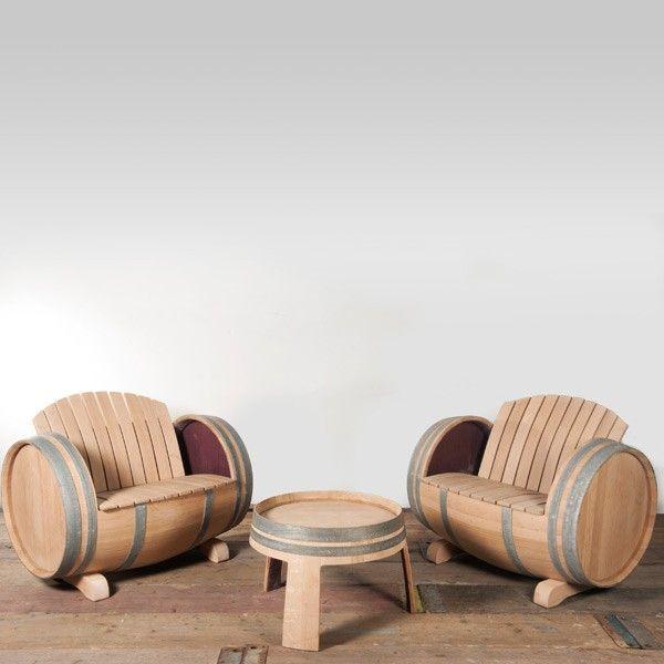 1000 idee n over wijnvat tuin op pinterest wijnvat plantenbak whiskey vat plantenbak en - Vat stoel ...