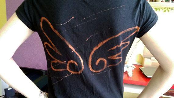wings devil angel girls t-shirt stencil by Kats13stuff on Etsy