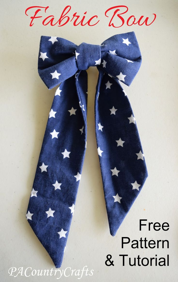 DIY Fabric Bow ~ Pattern and Tutorial