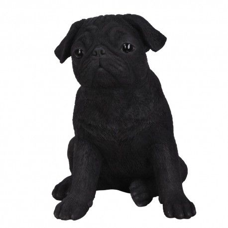 Real Life Carlino Pug Negro 29cm