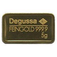 5 Gramm Goldbarren Degussa AG #gold #goldbarren