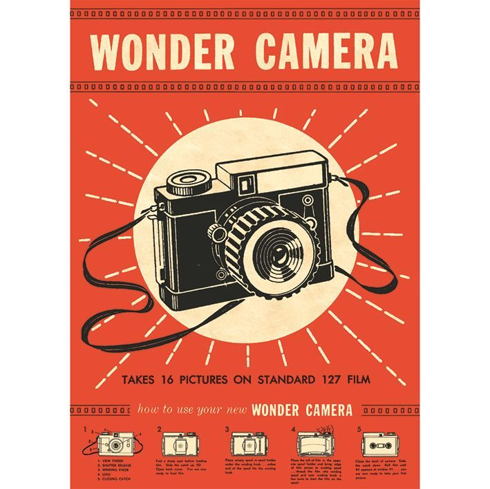 Poster/Giftwrap - Wonder Camera at Evans and Hall $6.95 #Cavallini
