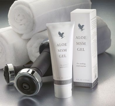 Aloe MSM Gel -  A combination of Aloe Vera and  methyl mulphonyl methylsulfonylmethane (MSM), this non-staining, clear gel soothes joints, muscles and connective tissues. An excellent product that no sports bag should be without.  Product No.205