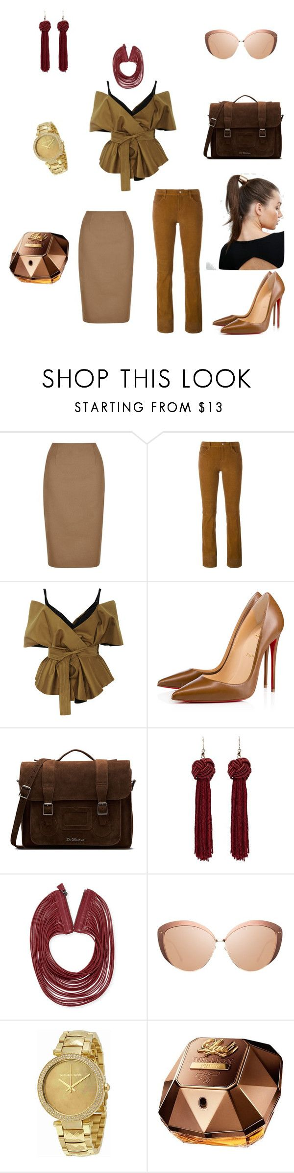 """Untitled #7"" by anastasiahag ❤ liked on Polyvore featuring Hobbs, J Brand, Acler, Christian Louboutin, Dr. Martens, Akris, Linda Farrow, Michael Kors, Paco Rabanne and Johnny Loves Rosie"