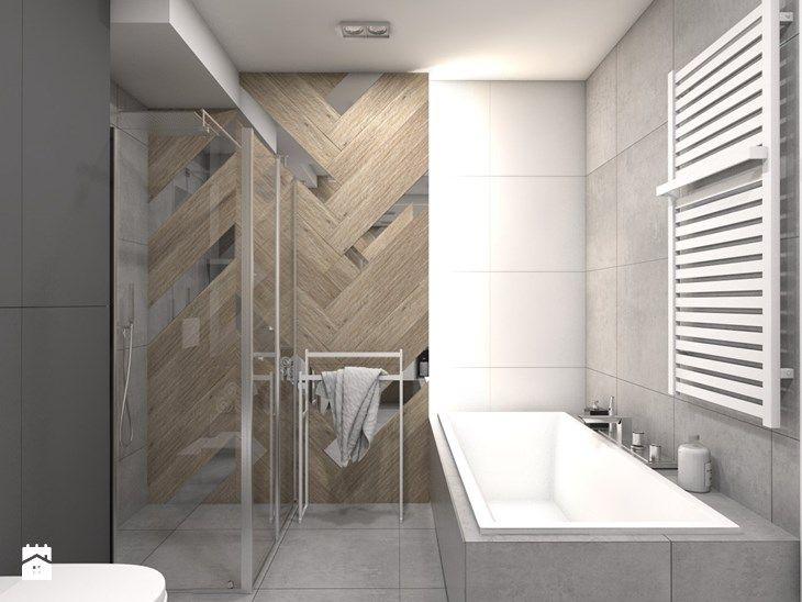 (Tarnowskie Góry) Projekt domu jednorodzinnego 1 - Średnia łazienka, styl nowoczesny - zdjęcie od BAGUA Pracownia Architektury Wnętrz
