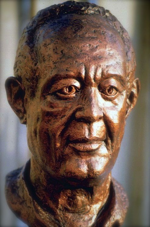 #portrait #sculpture. When I look at this portrait of Dad, I can feel his energy, I can almost hear his voice, I am moved to reflect on the man... that is my father! Its hauntingly powerful for a piece of clay!