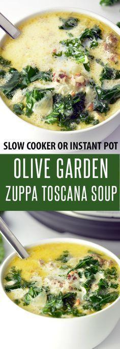 Voll beladenes Olivengarten Zuppa Toscana Suppenrezept! Machen Sie im Slow Cooker oder …
