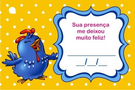 Mini Kit personalizado da Galinha Pintadinha para imprimir - Dicas pra Mamãe