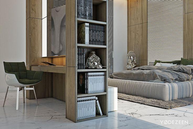 Diamon Island Apartment  Visual by EKE Team Bedrooms, Interiors - einrichtung mit minimalistisch asiatischem design