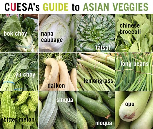 CUESA's Guide to Asian Vegetables http://www.cuesa.org/article/guide-asian-vegetables#