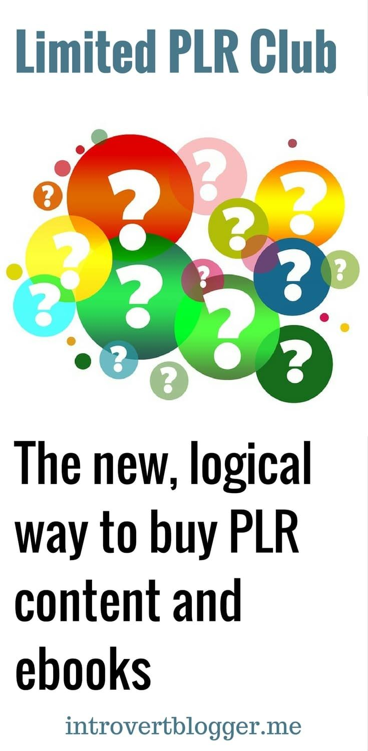 The destination for busy and lazy bloggers - Limited PLR Club - the new, logical way to buy PLR content and ebooks - blogging content.