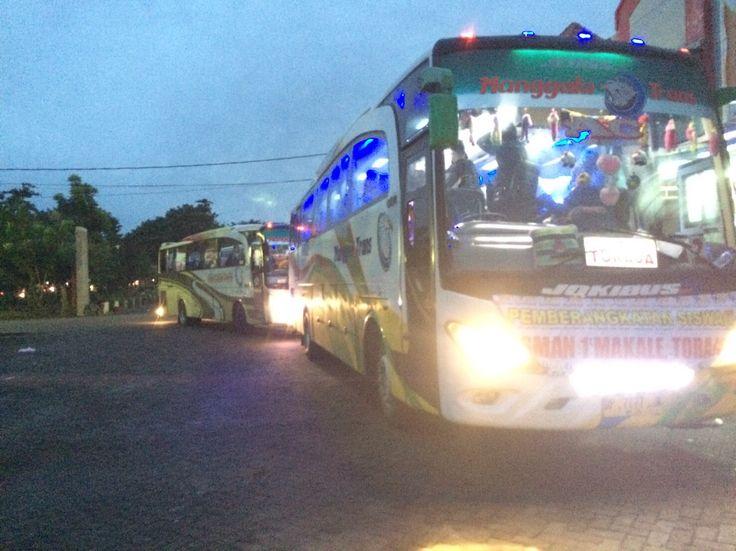 Proses Kedatangan Rombongan siswa(i) Proksis 4JO dari Toraja di Makassar