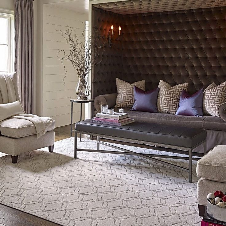 Our super soft appreciation carpet serves as the perfect foundation for this stunning room